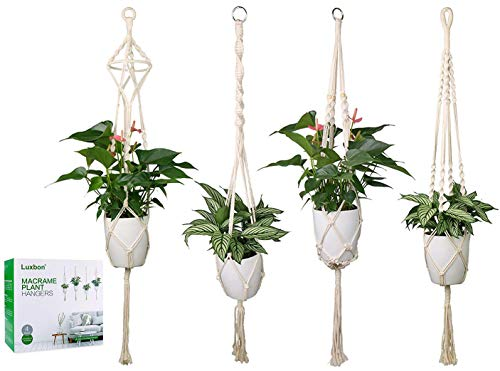 Plant Hanger Basket Handmade Rope Pots Holder Fine Hemp Rope Net Flower Pot Plant Lanyard High Standard In Quality And Hygiene Garden Supplies Home & Garden
