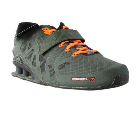Inov-8 Men's Fastlift 335 Weight-Lifting Shoe, Thyme/Black/Orange, 8 M US