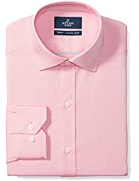 Men's Tailored Fit Spread-Collar Solid Non-Iron Dress Shirt
