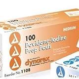 Alimed Povidone Iodine Prep Pad, Medium, (Box of 100)