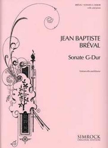 Sonate G Dur  Violoncello Und Klavier.  Simrock Original Edition