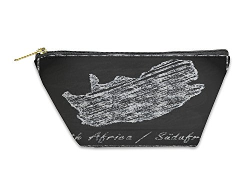 Gear New Accessory Zipper Pouch, Map Of South Africa As Chalkboard, Small, 5912350GN by Gear New