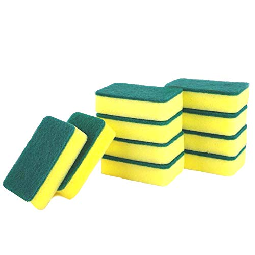 Apusale-Cleaning Sponges,Multi-Use Non-Scratch Magic Eraser Sponge,Scrubbing Dish Sponges Use for Kitchens, Bathroom, Car & Odor Free - 10 Pcs