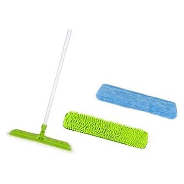 Starfiber Starmop Aquastar Microfiber Mop Kit Green Eco Friendly Cleaning 2 pads