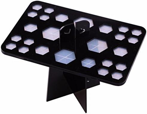 nicebuty 26/agujeros maquillaje plegable plegable aire secado maquillaje cepillo secador /Árbol de acr/ílico soporte de soporte