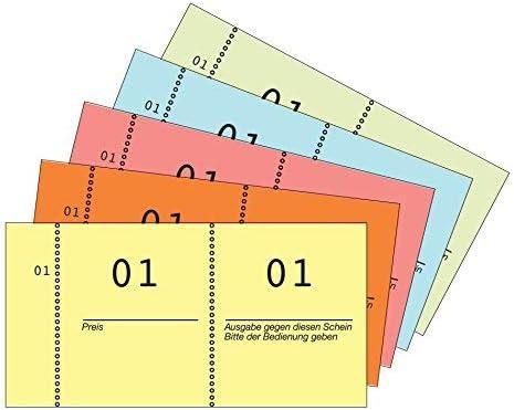 Nummernblock 10518 cm53 1-100 5farben VE=30