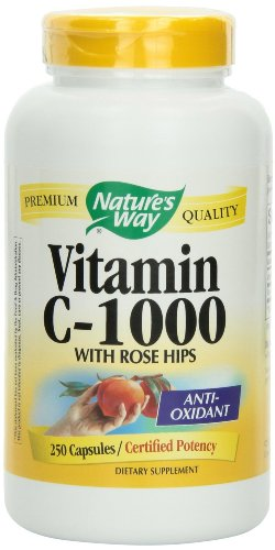 Nature's Way Vitamin C 1000 with Rose Hips, 750 Capsules Pack(6do5nz) by Nature's Way
