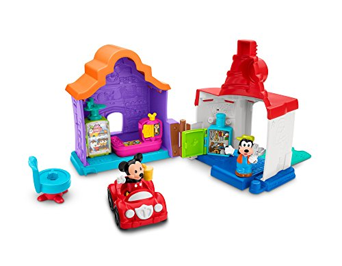 Fisher-Price Little People Magic of Disney Mickey & Goofy's Gas & Dine - With Faces Little People