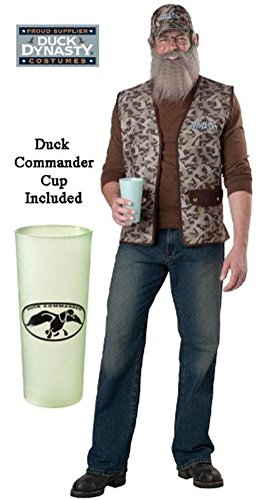 InCharacter Costumes Duck Dynasty Uncle Si Costume, Camouflage, One (Duck Dynasty Si Costumes)