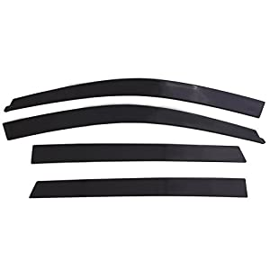 Auto Ventshade 894035 Low Profile Dark Smoke Ventvisor Side Window Deflector, 4-Piece Set for 2015-2018 Ford Edge