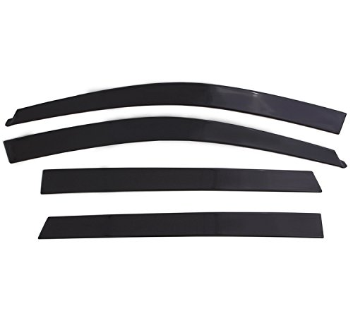Auto Ventshade 894044 Low Profile Dark Smoke Ventvisor Side Window Deflector, 4-Piece Set for 2015-2018 Ford F-150, 2017-2018 Raptor & F-250 to F-450 Super Duty with SuperCrew ()