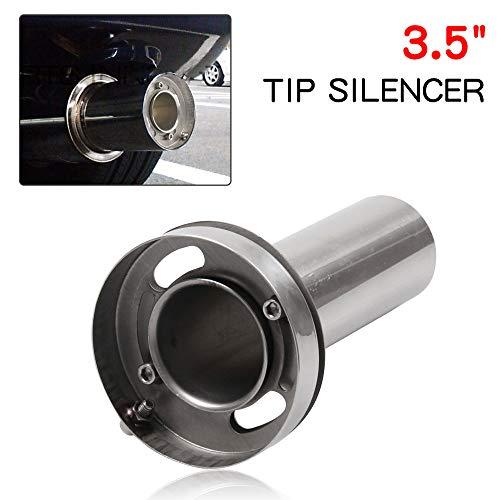 - RYANSTAR Exhaust Muffler Adjustable Round Removable Silencer 3.5