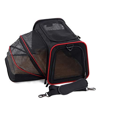- Duzhengzhou Pet Folding Bag, Car Seat Cat Dog Puppy Portable Travel Cage Luggage Grill (Size : 2-S40.525.525.5cm)