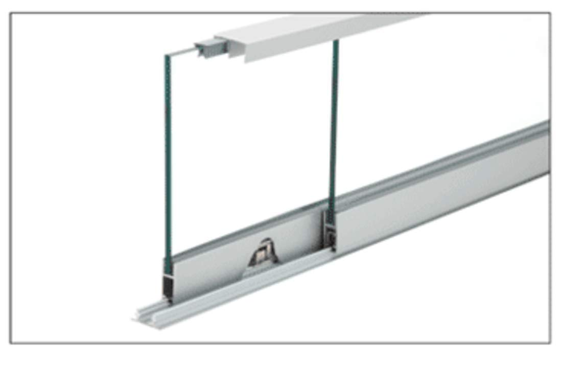C.R. LAURENCE S710A36 CRL Satin Anodized 36'' Security Anti-Lift Track Assembly by C.R. Laurence