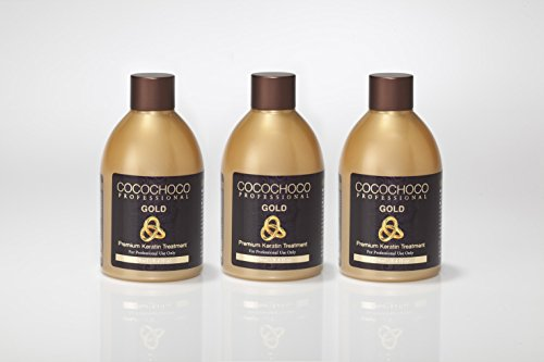 Price comparison product image Cocochoco Professional - Gold 8.4oz with 24k Liquid Gold - New Improved Formula 3 Pack Special Offer (25.2oz total)