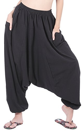 CandyHusky Men Women Cotton Baggy Hippie Boho Gypsy Aladdin Yoga Harem Pants