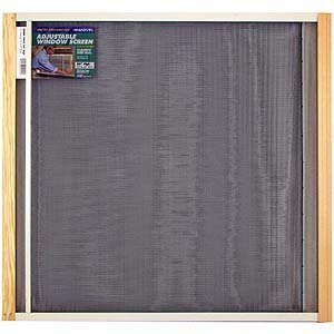 Marvin Adjustable Window Screen 24'' Tall, 45''W, Extends From 25'' To 45''W Steel Charcoal Extends From by Frost King