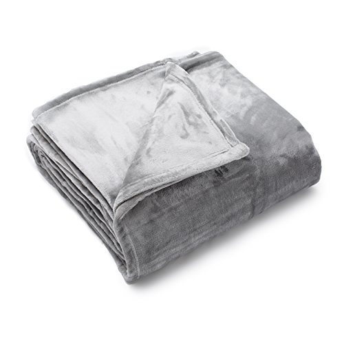Price comparison product image Home Fashion Designs Marlo Collection Ultra Velvet Plush All-Season Super Soft Luxury Bed Blanket. Lightweight and Warm for Ultimate Comfort. By Brand. (King, Silver)