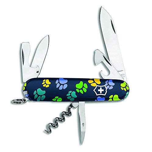 Swiss Army Paw Prints Spartan Limited Edition by Victorinox Dog Blue Paw Prints