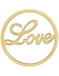 MS Koins Stainless Steel Love Coin Yellow Gold Plated Fits Our Coin Locket System, 30mm Diameter