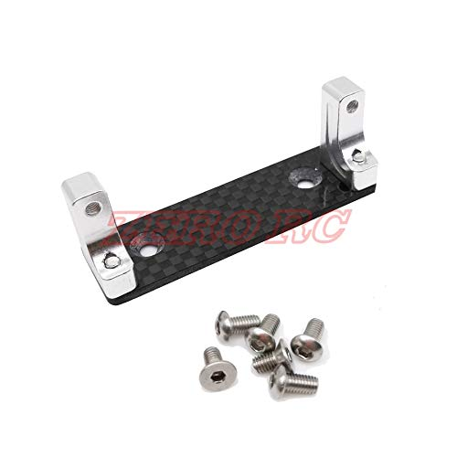 ShineBear Alloy Servo Mount with Carbon Fiber Skid Plate for AXIAL Wraith RR10 1/10 RC ()