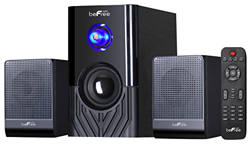 beFree Sound BFS-15 2.1 Channel Surround Sound Bluetooth Speaker System, Black by BEFREE SOUND