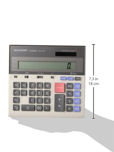Sharp QS-2130 12 Digit Commercial Desktop Calculator with Kickstand, Arithmetic Logic by Sharp (Image #2)