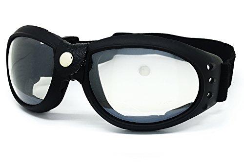 O2 Eyewear 101 RETRO VINTAGE ELIMINATOR AVIATOR MOTORCYCLE ATV DIRT BIKE OFF ROAD MX DUST PROOF PADDED GOGGLES (GOGGLES, - Sunglasses Eliminator