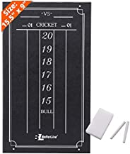 """BETTERLINE Large Professional Scoreboard Chalkboard for Cricket and 01 Darts Games - 15.5"""" x 9"""" Inch"""