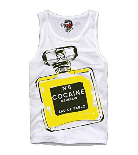 E1SYNDICATE TANK TOP SHIRT COCAINE EU DE PABLO ESCOBAR SCARFACE CARLOS LEHDER DOPE S-XL