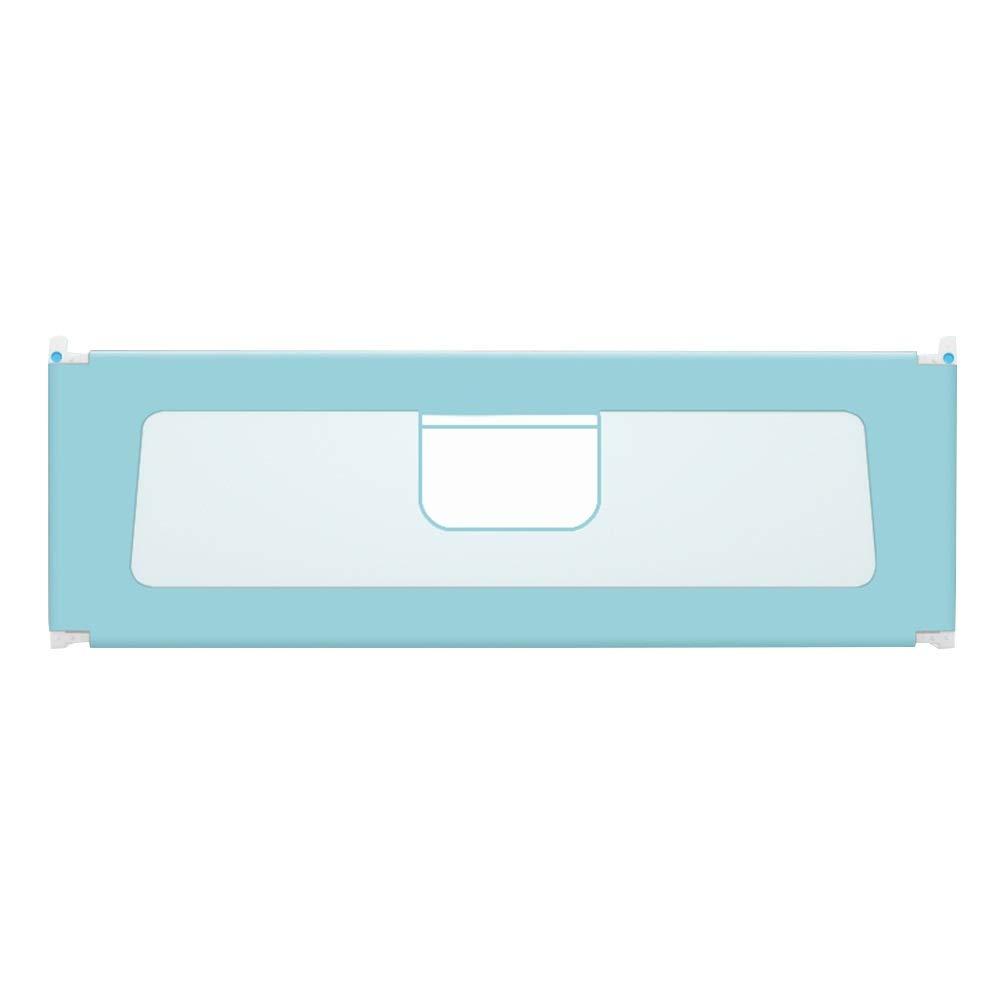 KKCF 子供用ベッドフェンス垂直リフト転倒防止寝室洗えるオックスフォード布 、3色 5サイズ (色 : 青, サイズ さいず : 220cm) 220cm 青 B07RBPGPZG