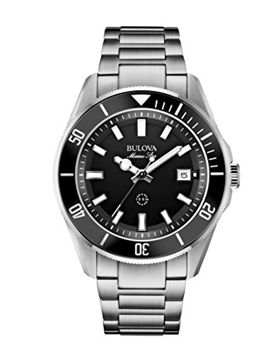 Bulova Men's Analog Watch Silver 98B203