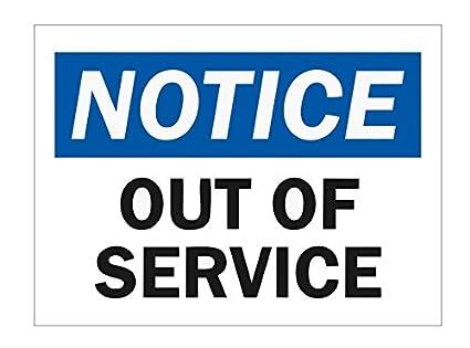 Amazon.com: Aviso fuera de servicio OSHA señal de seguridad ...