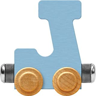 product image for Maple Landmark NameTrain Pastel Letter Car J - Made in USA (Blue)