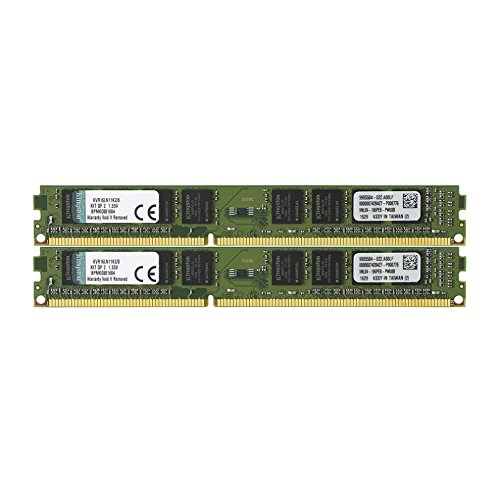 Kingston ValueRAM 8GB Kit (2x4GB) 1600MHz DDR3L Non-ECC CL11 DIMM 1.35V KVR16LN11K2/8