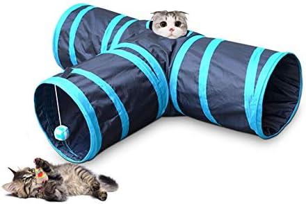 猫 トンネル 3通 ペットおもちゃ 折りたたみ式 キャットトンネル 安全素材 鳴るボールに付き ストレス解消 遊び道具 プレイトンネル