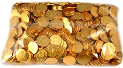 Chocolate Gold Coins Bulk - Fort Knox Milk Chocolate Gold Coins - 5 Lb Bulk Bag