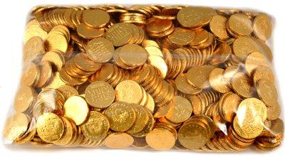 - Fort Knox Milk Chocolate Gold Coins - 5 Lb Bulk Bag