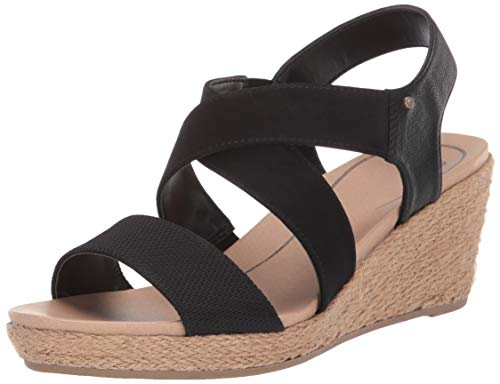 Dr. Scholl's Women's Emerge Sandal, Black Tumbled, 8 M ()