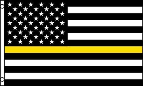 Moon Thin Yellow Line American Flag 3x5 ft Security Guard Lo