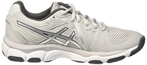 Asics Women's Gel-Netburner Ballistic Multisport Indoor Shoes Grey (Glacier Grey/Silver/Dark Grey) U86ZVKghCM
