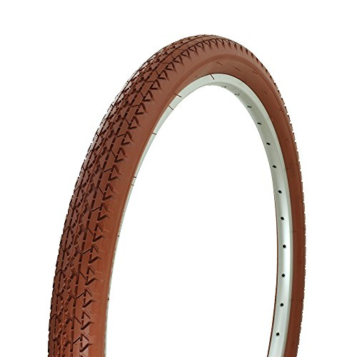 Fenix Cycles Wanda Diamond Tread Bicycle Colored Tire 26 x 2.125, for Beach Cruiser Bikes, (Clay)