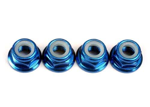 Traxxas 4147X 5mm Blue-Anodized Aluminum Nylon Locking Nuts (set of4)