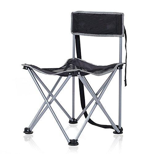 Ezyoutdoor Mesh Ultralight Portable Folding Camping Chairs Aluminium Alloy Stool Fishing Hunting Camping Furniture Chair (Black)