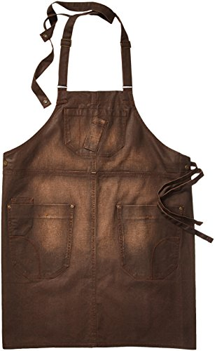 Chef Works Men's Galveston Bib Apron, Chocolate, One Size by Chef Works