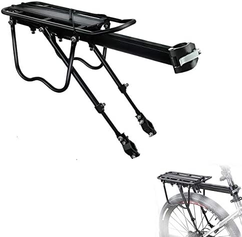 AYNEFY Bike Luggage Cargo Rack Durable Aluminum Alloy Mountain Bike Bicycle Rear Seat Luggage Shelf Rack Weight Capacity 10KG