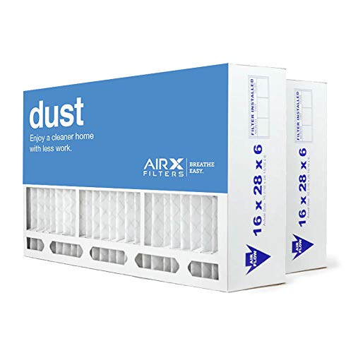 AIRx Filters Dust 16x28x6 Air Filter MERV 8 Replacement for Aprilaire Space-Gard 401 to Fit Media Air Cleaner Cabinet Aprilaire Space-Gard 2400, 2-Pack