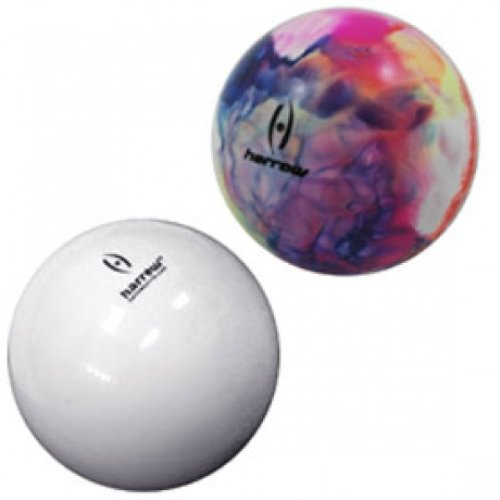 Harrow Blister Pack Smooth Field Hockey Ball (2-Piece), White/Multi-Color
