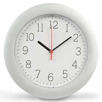 Reloj de pared Con tres manecillas Minutero Secundario Horario 25 cm de diámetro: Amazon.es: Hogar
