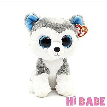 4eea227b6fa Amazon.com  28cm Ty Beanie Boos Big Eyes Husky Dog Plush Toy Doll Stuffed  Animal Toy Doll Cute Gift for Children Boys Girls  Baby